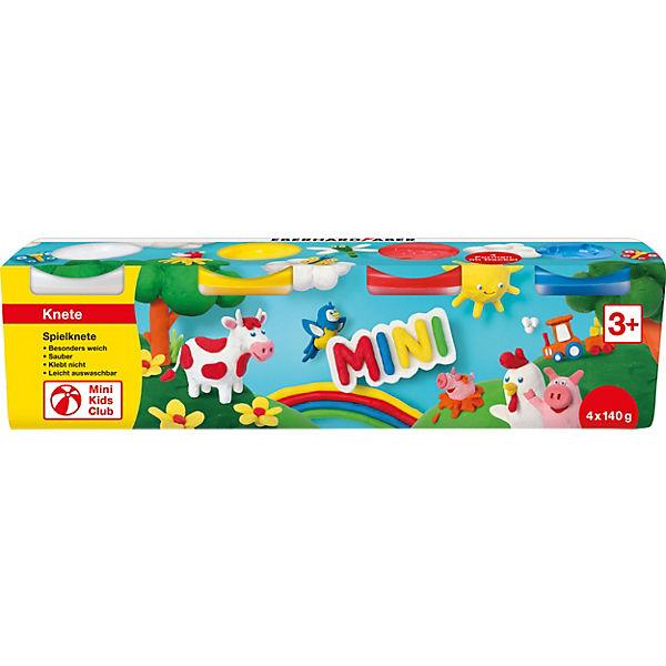 Mini Kids Spielknete Basisfarben, 4 x 140 g, Eberhard Faber