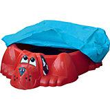 Бассейн-песочница Собачка с покрытием, красный, PalPlay
