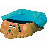 Бассейн-песочница Собачка с покрытием, оранжевый, PalPlay