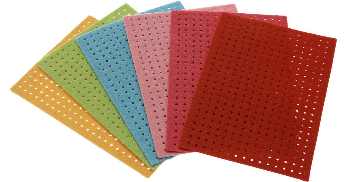 Filz-Stickplatten Erste Stickübungen, 6 Stück