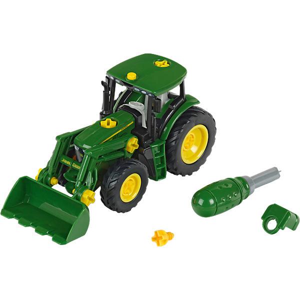 klein john deere traktor mit frontlader und gewicht john. Black Bedroom Furniture Sets. Home Design Ideas