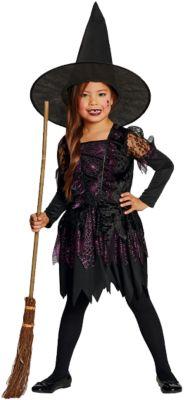 Kostüm Spider Witch schwarz-pink Gr. 164 Mädchen Kinder
