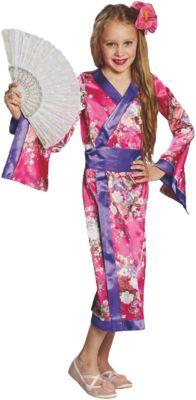 Kostüm Geisha pink Gr. 128 Mädchen Kinder