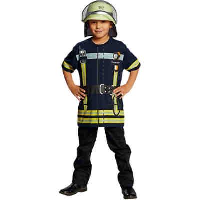 Kostüm Feuerwehrmann / Feuerwehrfrau rot, 2-tlg., | myToys