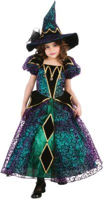Kostüm Radiant Witch Gr. 116/128 Mädchen Kinder