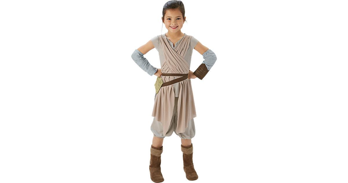 Kostüm SW Erwachen der Macht Rey Deluxe beige Gr. 116/128 Mädchen Kinder