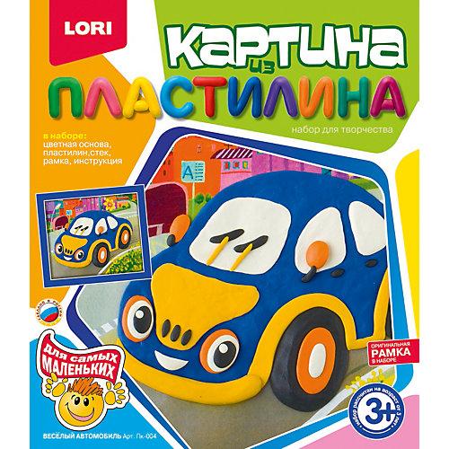 "Картина из пластилина ""Веселый автомобиль"", LORI"