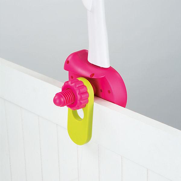 Мобиль музыкальный на кроватку Цветок, розовый, Smoby