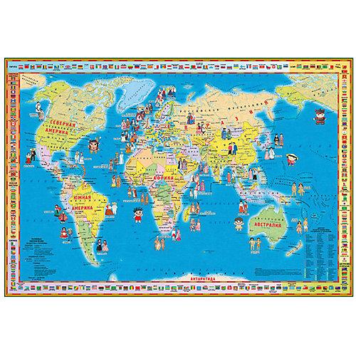 """Складная карта """"Народы и страны"""" от Издательство Ди Эм Би"""