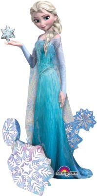 Folienballon Die Eiskönigin blau
