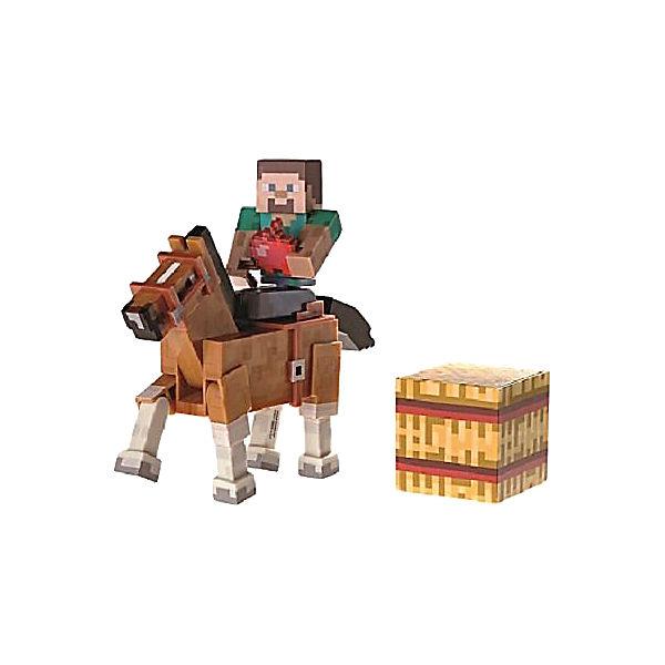 Minecraft Steve Figur Mit Braunem Pferd Serie Minecraft MyToys - Minecraft spiele mit pferden