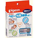 Палочки ватные с липкой поверхностью 50 шт, Pigeon