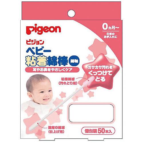 Палочки ватные с липкой поверхностью 50 шт, Pigeon от Pigeon