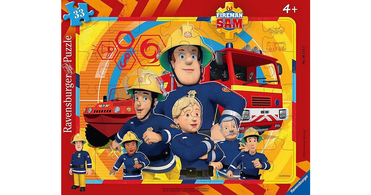 Rahmen-Puzzle, 33 Teile, 32,5x24,5 cm, Sam, der Feuerwehrmann