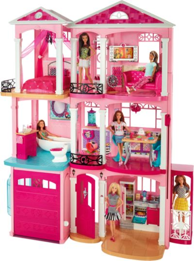 Barbie Kinderzimmer | Barbie 3 Etagen Stadthaus Barbie Mytoys