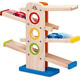 """Игровой набор Wonder world """"Деревянная игрушка со съезжающими машинками"""""""