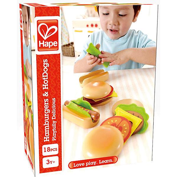 Hamburger und HAPE Hotdogs Spiellebensmittel, HAPE und a7d31b
