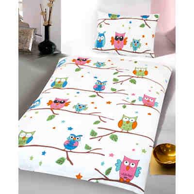 Bettwäsche Für Kinderzimmer | Kinderbettwasche Eulen Biber Weiss 100 X 135 Cm Mytoys
