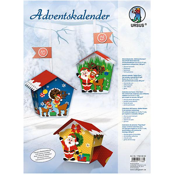 Kreativset Adventskalender Weihnachtsmann Ursus Mytoys