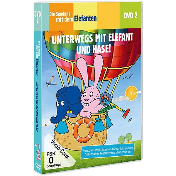 dvd die sendung mit dem elefanten 01 unterwegs mit elefant und hase die maus mytoys. Black Bedroom Furniture Sets. Home Design Ideas