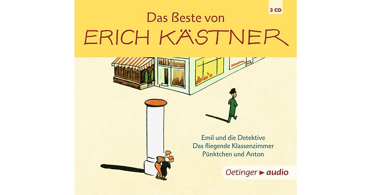 Das Beste von Erich Kästner, 3 Audio-CDs Hörbuch
