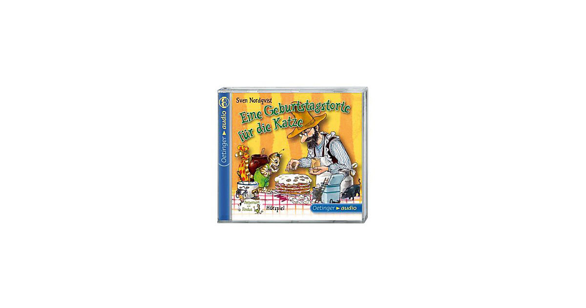 Pettersson & Findus: Eine Geburtstagstorte die Katze, 1 Audio-CD Hörbuch  Kinder
