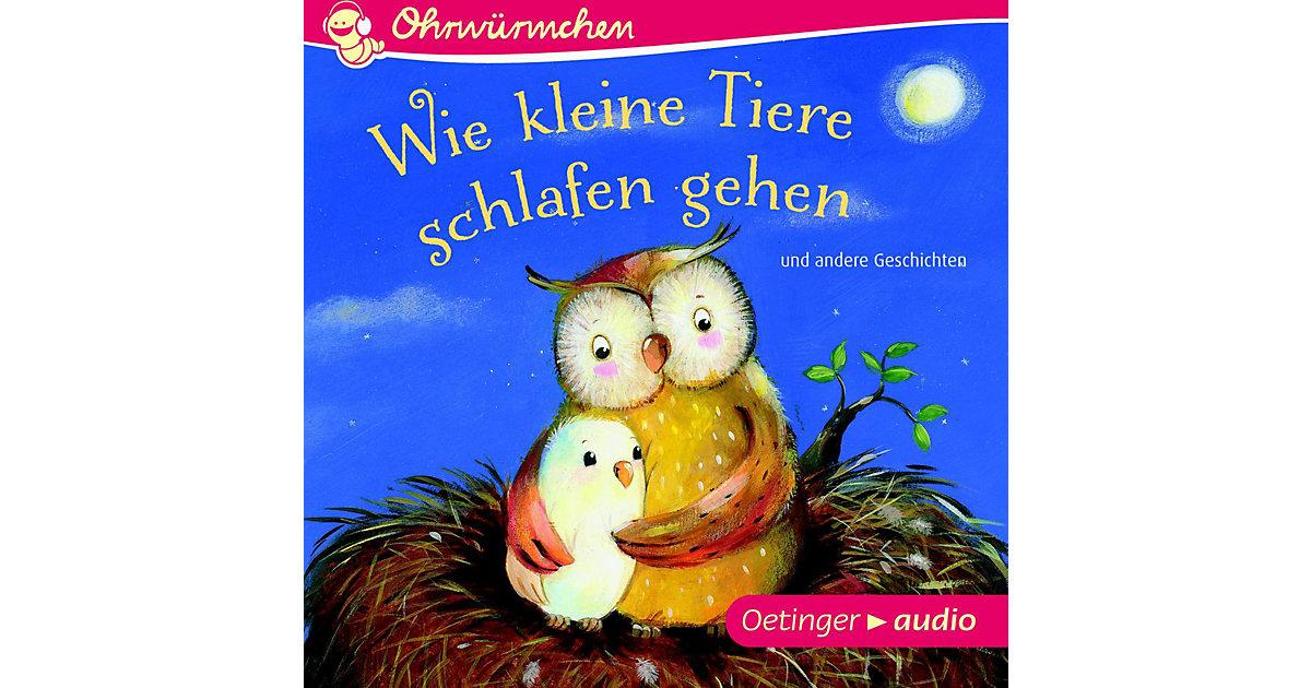 Wie kleine Tiere schlafen gehen und andere Geschichten, 1 Audio-CD Hörbuch