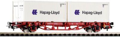 """PIKO Spur H0 - Containertrgwg. Lgs579 """"Hapag Lloyd´´ DB AG VI 2x20´´"""