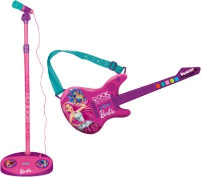 Barbie Elektr. Gitarre & Mikrofon NEU