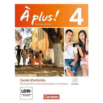 Ě plus! Nouvelle édition: Carnet d'activités, m. CD-Extra und Video-Dateien als Download [Att8:BandNrText: 5201193]