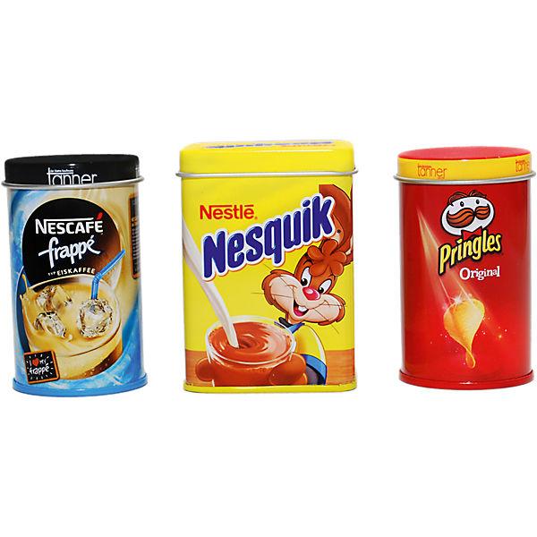 Spiellebensmittel Prinzenrolle, Pringles, Nesquik, Chr. Tanner