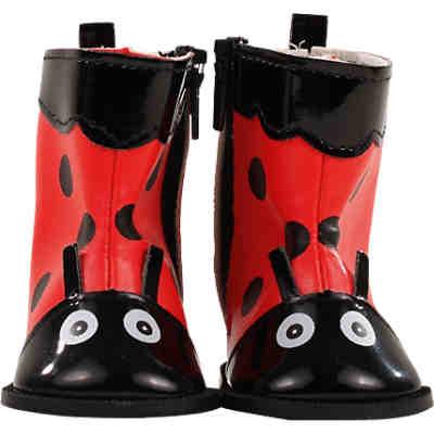Puppenkleidung NEU schwarz Schuhe Stiefel 7,5 cm