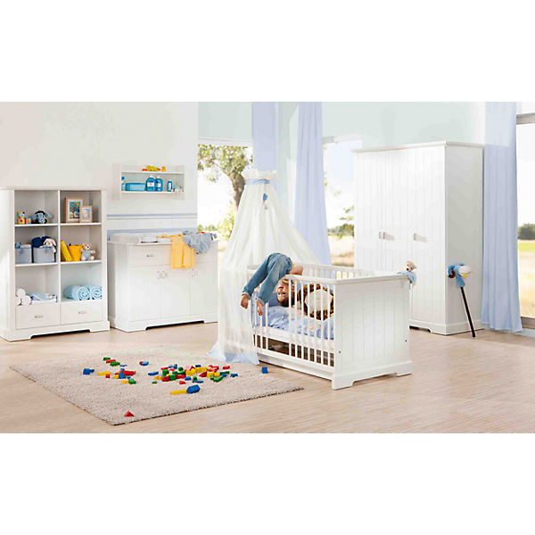 Komplett Kinderzimmer Cottage 3 Tlg Kinderbett Wickelkommode Und