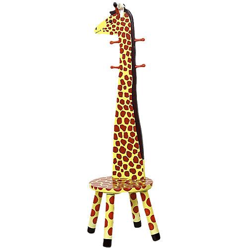 CHIC 2000 Garderobe mit Hochlehnen-Hocker, Giraffe, teilmassiv