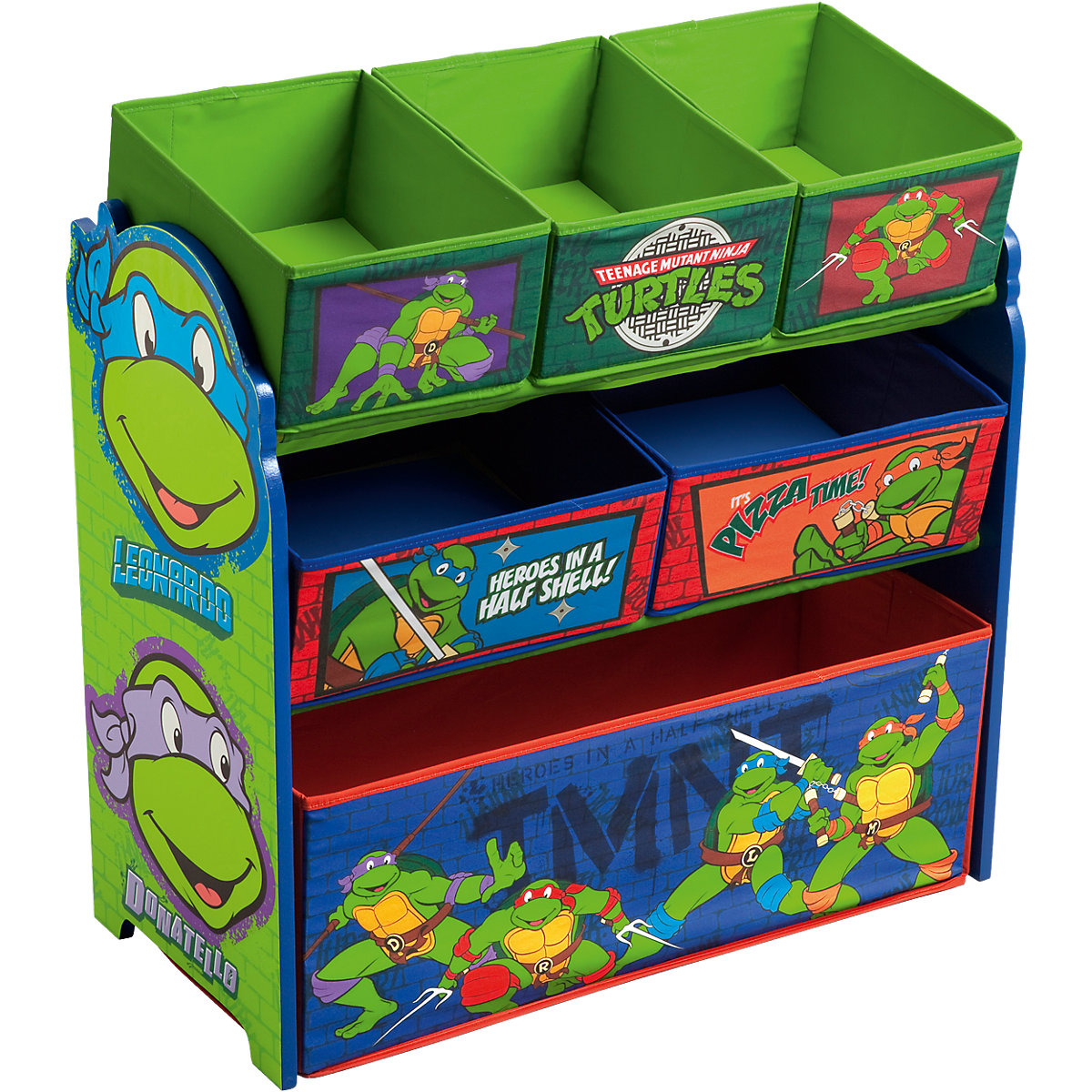 6 boxen regal turtles teenage mutant ninja turtles mytoys. Black Bedroom Furniture Sets. Home Design Ideas