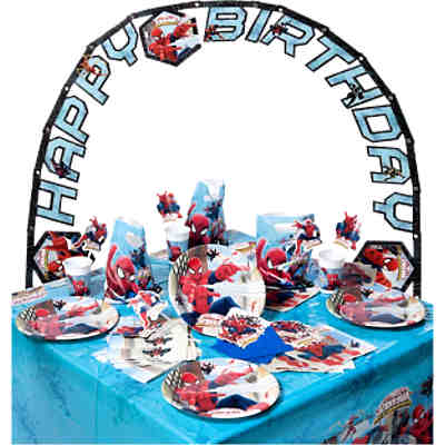 Partyset Spiderman Web Warriors, 56-tlg.