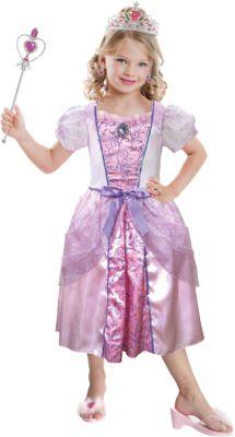 Kostüm pink Princess mit Schmuck-Set Gr. 98/116 Mädchen Kleinkinder