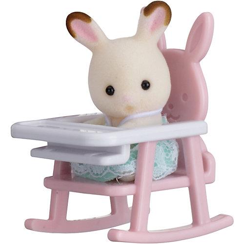 """Набор """"Младенец в пластиковом сундучке"""" (кролик в детском кресле), Sylvanian Families от Эпоха Чудес"""