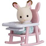 """Набор """"Младенец в пластиковом сундучке"""" (кролик в детском кресле), Sylvanian Families"""