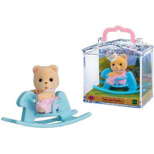 """Набор """"Младенец в пластиковом сундучке """" (медвежонок на качалке), Sylvanian Families от Эпоха Чудес"""