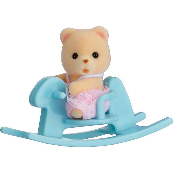 """Набор """"Младенец в пластиковом сундучке """" (медвежонок на качалке), Sylvanian Families"""