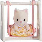"""Набор """"Младенец в пластиковом сундучке """" (кошка на качелях), Sylvanian Families"""