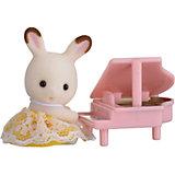 """Набор """"Младенец в пластиковом сундучке """" (кролик и рояль), Sylvanian Families"""