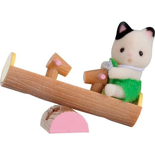 """Набор """"Младенец в пластиковом сундучке """" (котенок на качелях), Sylvanian Families от Эпоха Чудес"""
