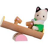 """Набор """"Младенец в пластиковом сундучке """" (котенок на качелях), Sylvanian Families"""