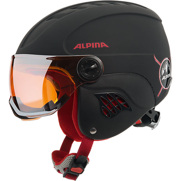 Skihelm Carat LE Visor HM black-red matt