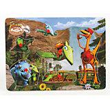 Деревянная рамка-вкладыш, 29*21 см, Поезд динозавров, Играем вместе