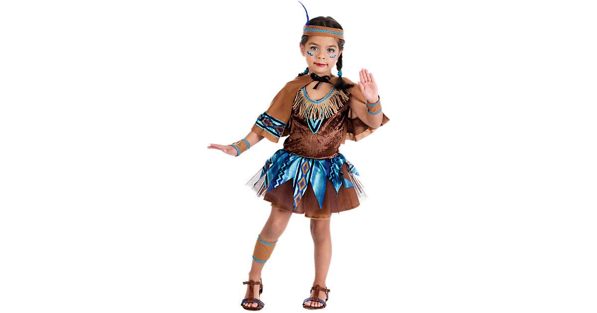 Kostüm Indianerin mit Cape Gr. 140/152 Mädchen Kinder