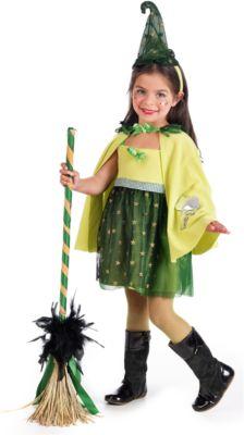 Kostüm Hexe grün Gr. 104/110 Mädchen Kleinkinder