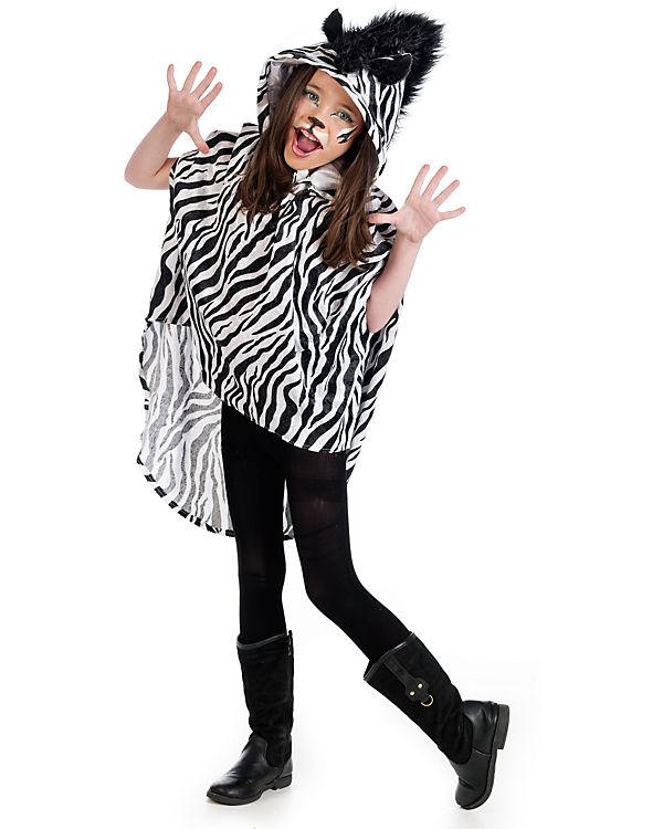 Kostüm Poncho Zebra Limit